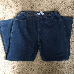 Just my size bootleg jeans. Easy stretch. 2XG.